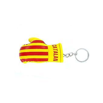 Cle Cles Key Flag Catalan Catalunya Boxing Glove Flag Keychain
