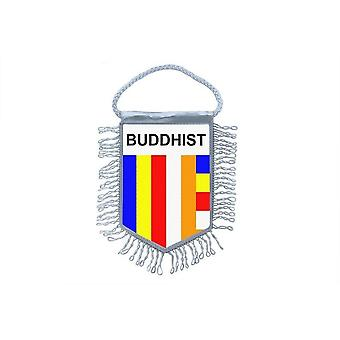 Mini Flag Country Car Decoration Buddhist Buddha Buddhism