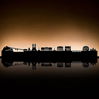 RADIUS lys Koblenz te lys indehaveren sort 80 x 18 x 5-7110