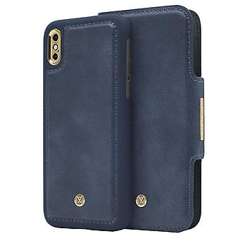 Marvêlle iPhone X/Xs Magnetic Case & Wallet Blue Slim