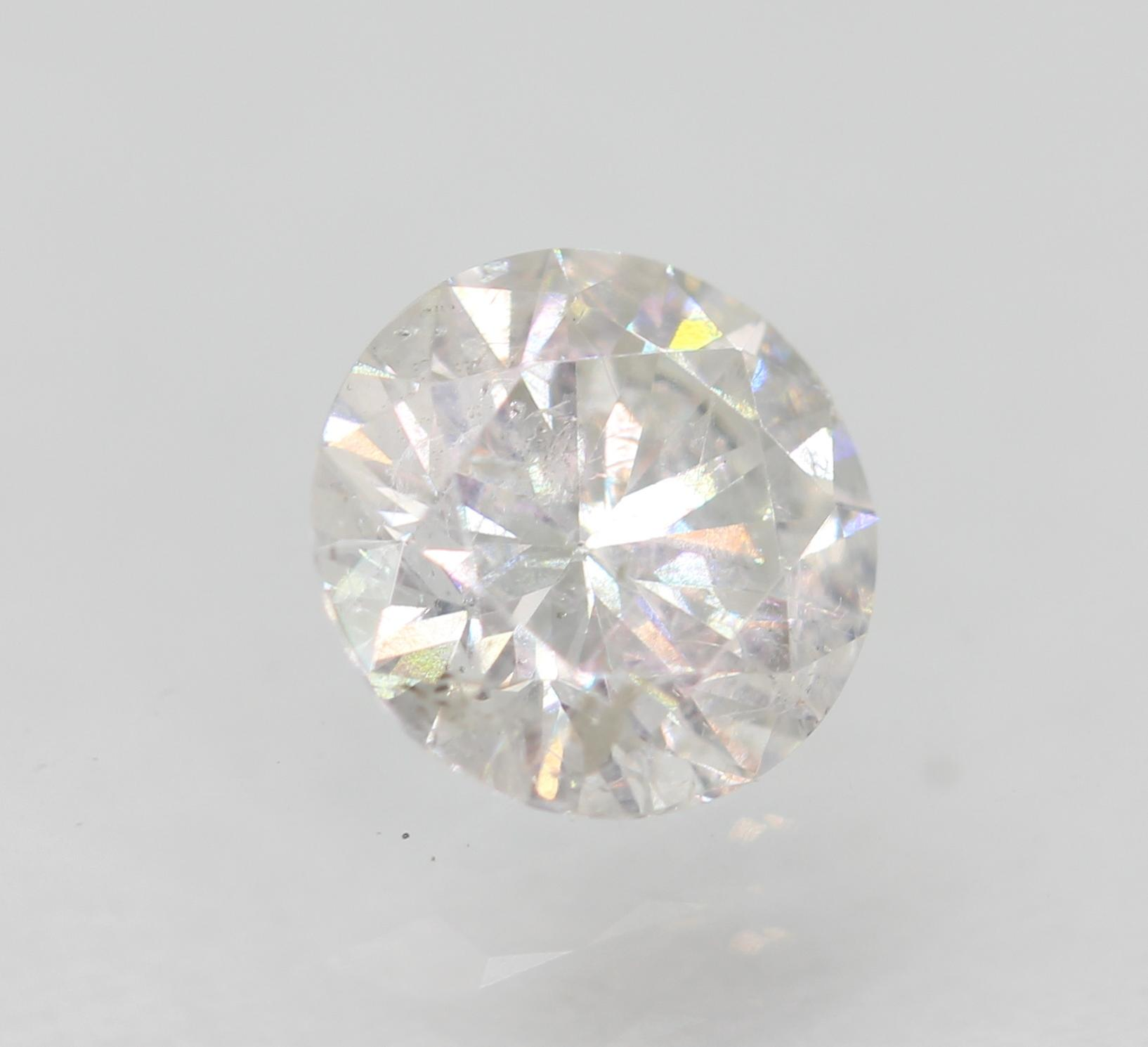 Certified 0.54 Carat F SI2 Round Brilliant Enhanced Natural Loose Diamond 5.27mm