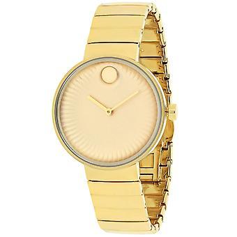 Movado Women's Edge Gold Dial Watch - 3680014
