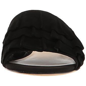Nine West Womens Ivarene Leather Open Toe Casual Slide Sandals