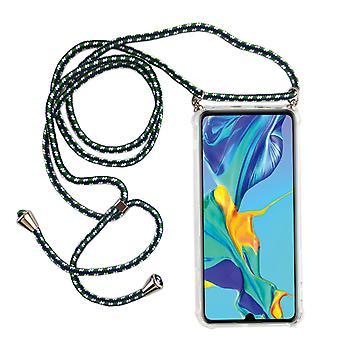 Catena di telefoni per Huawei P30 Lite - Smartphone Collana Custodia con nastro - Cord con custodia per appendere in verde