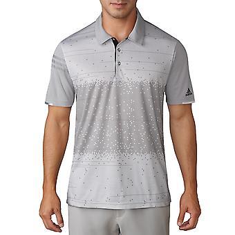 adidas Golf Herren Climachill 360 Ventilation Pixel Print Polo Shirt