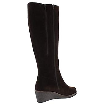 Aerosoles Womens Binocular Suede Knee-High Boots Brown 8.5 Wide (C,D,W)