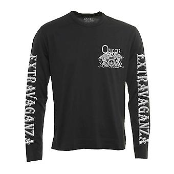 Queen T Shirt Extravaganza Band Logo new Official Black Long Sleeve Unisex