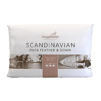 Snuggledown Scandinavian Collection Duck Feather and Down Pillow Pack of 2