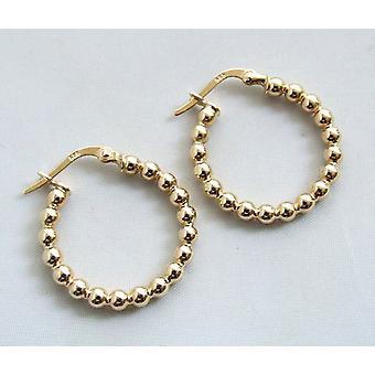 14 carat gold polka dot earrings