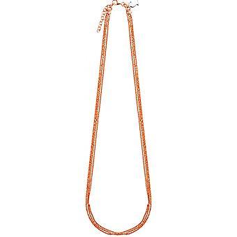 Ketting en hanger Clio blauwe CO1994P - ketting en hanger meerkanaals Rose geld vrouw
