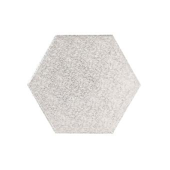 """Culpitt 11 """"(279mm) Cake Board hexagonal silver Fern Pack 5"""