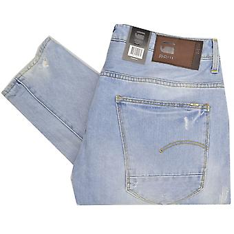 G-Star Arc 3d Slim gedraaide licht Aged vernietigen gescheurde Jeans