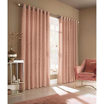 Furn Himalaya Jacquard Design Eyelet Curtains (Pair)
