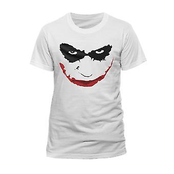 Batman Unisex Volwassenen T-shirt met Joker Smile Outline Design