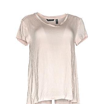 H by Halston Women's Top Essentials V-Neck Forward Seam Pink A306231 PTC