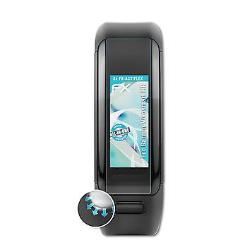 atFoliX 3x Screen Protector compatible with Garmin Vivosmart HR Screen Protection Film clear