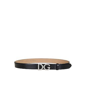 Dolce E Gabbana Be1311au92380999 Dames's Zwart Lederen Riem