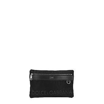 Dolce E Gabbana Bm1702az6758b956 Hombres's Bolsa de poliéster negro