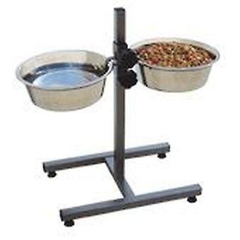 Freedog Trough support and double adjustable 4.00 lt