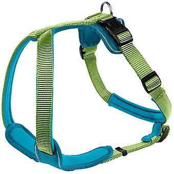 Hunter Arnés Neopren para perros verde y azul (Honden , Halsbanden en Riemen , Tuigjes)