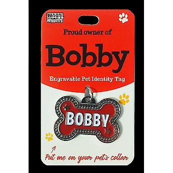 Wags & Whiskers Pet Identity Tag - Bobby