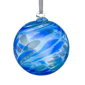 Sienna Glass 10cm Engel Orb, Zadkiel/Lapis Lazuli