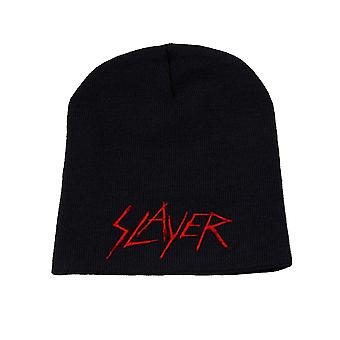 Slayer Beanie Hat Cap Classic Scratched Logo Official New Black
