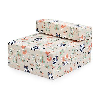 Bereit Steady Bed Kinder Kinder Falten Aussleepover Z Bett Sofa | Kleinkind einzelne Klappstuhl | Ideal für Spielzimmer Schlafzimmer Wohnzimmer | Leicht & bequem (Wildwood)