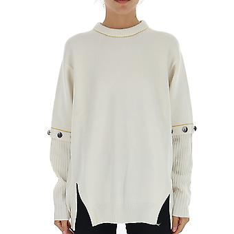 Chloé Chc19wmp02510111 Women's White Wool Sweater