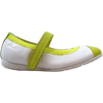 Clarks Dance Bee Pre White Leather 26106385 Toddler