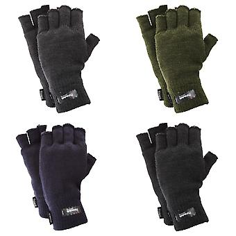 FLOSO Mens Thinsulate Thermal Fingerless Gloves (3M 40g)