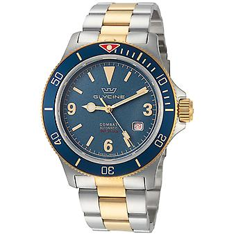 Combat Vintage Analog Men's Automatic Watch with GL0262 Stainless Steel Bracelet