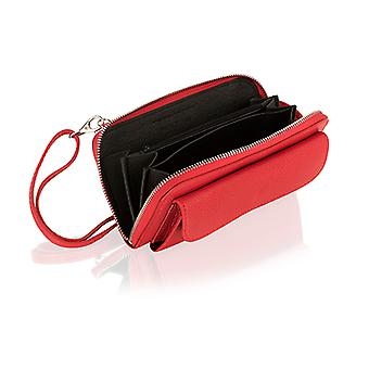Genuine Italian leather zipped crossbody / clutch purse with strap by Woodland Leathers