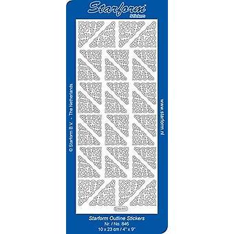 Starform Stickers Corners 4 (10 Sheets) - Silver - 0846.002 - 10X23CM