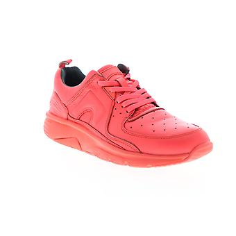 Camper Drift  Womens Red Leather Lace Up Low Top Sneakers Shoes