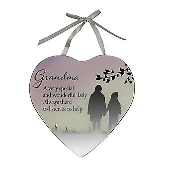 Grandma A Very Special Lady  - Reflections from the Heart - Mirrored Sign Plaque