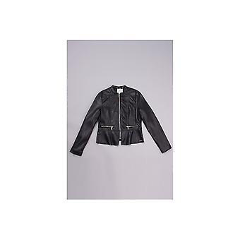 Rino & Pelle Prema Peplum Faux Leather Jacket