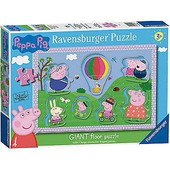 Ravensburger Peppa Pig Giant Floor Puzzle With Large Shaped Chara Jigsaw Puzzle