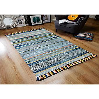 Kelim STRIPES BLUE  Rectangle Rugs Modern Rugs
