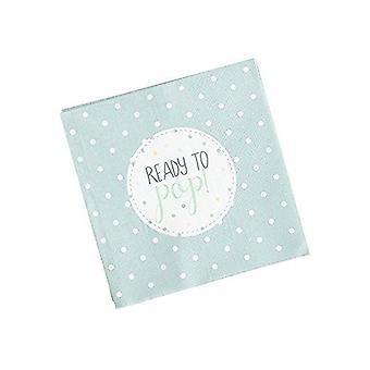 Oh Baby Napkins Mint Green Baby Shower Pack of 20 Ready to Pop!