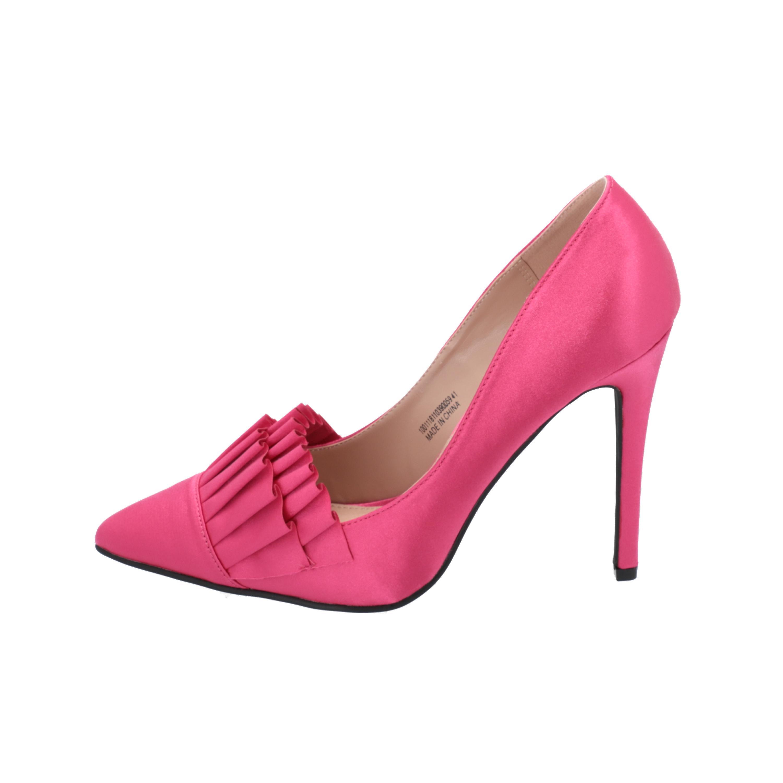 Lost Ink GABBI RUFFLE FRONT COURT Damen Pumps Rosa High-Heels Stilettos Ayfme