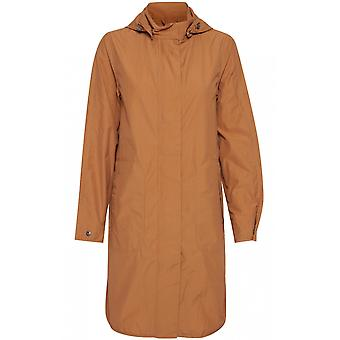 b.young Almond Hooded Raincoat