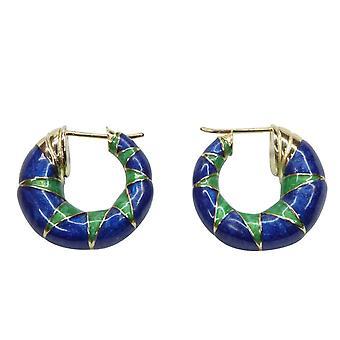 14 carat Christian enamel earrings