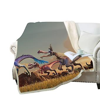 3D dinosaur printed blanket Polyester multi-purpose blanket high-quality