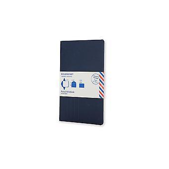 Moleskine postal notebook pocket indigo blue
