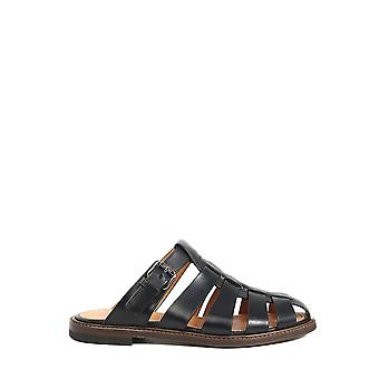 Church's Ex00059adjf0aab Men's Black Leather Sandals