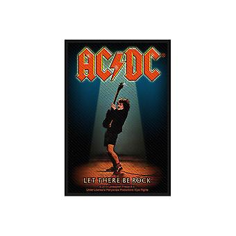 AC/DC Patch Let There Be Rock Angus Album Logo Official New Black Woven 10x7cm