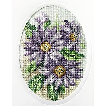 Orchidea Cross Stitch Card Kit - Dahlias