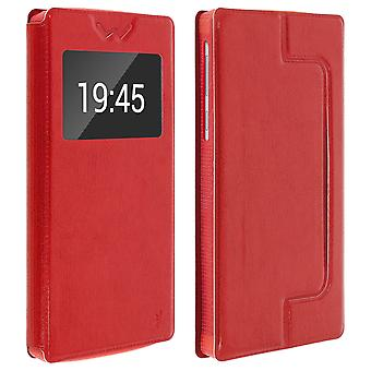 Smartphone Case 6,4 ' ' ' Card Holder Fenster-Video-Stand, Dia Rot