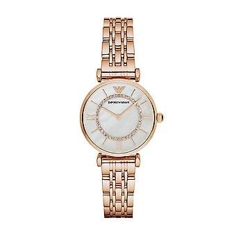 Emporio Armani AR1909 Damer Gianni T-Bar Rose Gull Watch - Rose Gold
